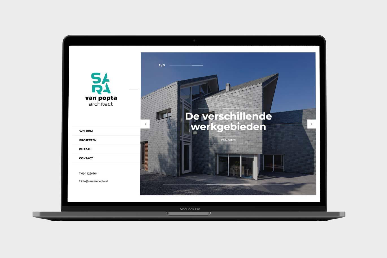 Website Sara van Popta Architect