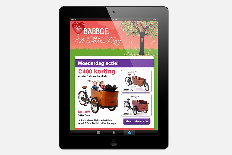 Babboe Bakfiets moederdagcampagne nieuwsbrief