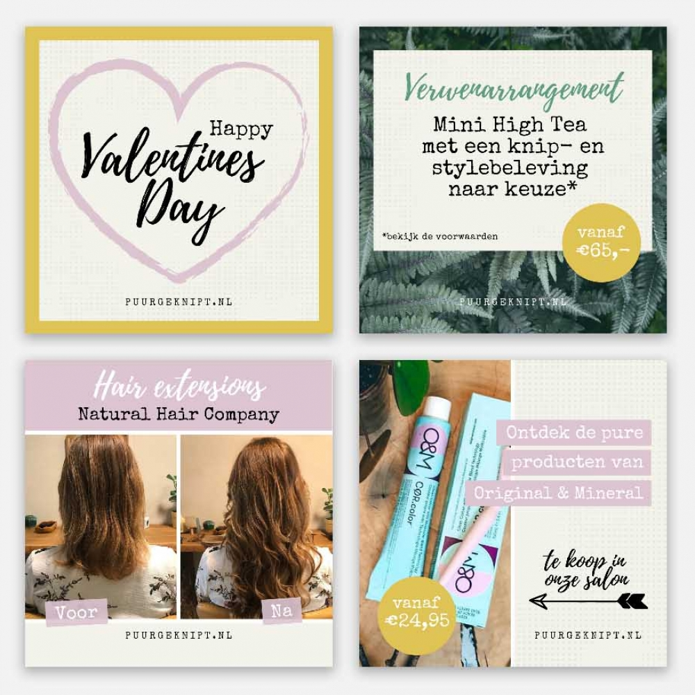 Puur Geknipt Canva templates