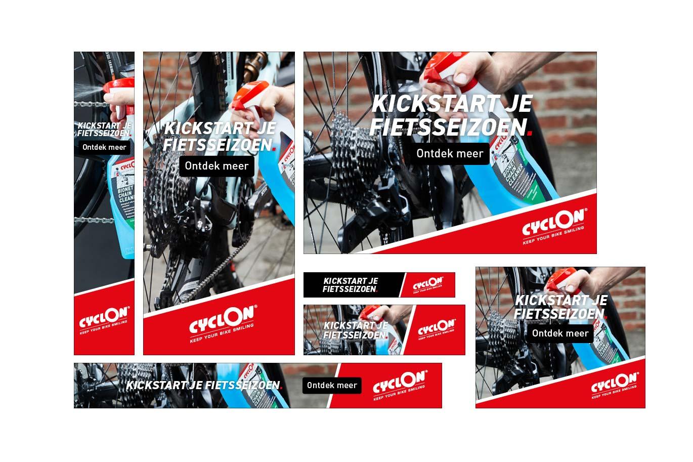 Cyclon bannerset start fietsseizoen